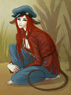 black_sclera c3 cleavage clone costume faive five(artist) halloween halloween_jam hat jam red_eyes red_hair tail // 605x804 // 82.6KB // $artist